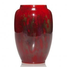 """Royal Doulton Flambe' Vase, Noke, Moore, 6 1/4"""""""