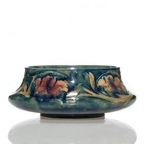 """Moorcroft Spanish Bowl, Incised Marks, 2 7/8""""x7"""""""