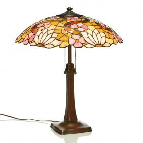Handel Table Lamp, Leaded Shade, 21""