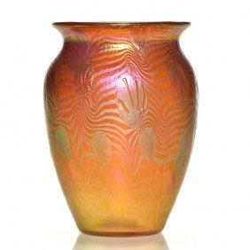 "Loetz Argus Phaenomen Vase, 5 1/2"""