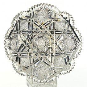 "Libbey Cut Glass Tray, Somerset Pattern, 12"" Dia"