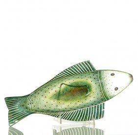 "Maurice Heaton"" Fish"" Bowl, 2 5/8€x14 3/4€,"