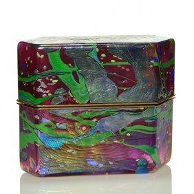 "Jack Ink Studio Glass & Brass Box, Multicolor, 8""x10"""