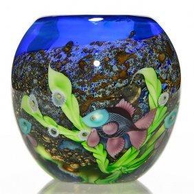 """Early Orient & Flume Undersea Vase, L. Hudin, 5"""""""