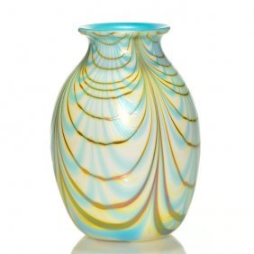Early Charles Lotton Vase, 7 7/8, 1973