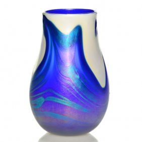 """Early Charles Lotton """"lava"""" Style Vase, 1973, 6"""""""