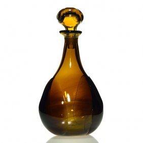 """Dominic Labino Stoppered Bottle, 1968, 11"""""""