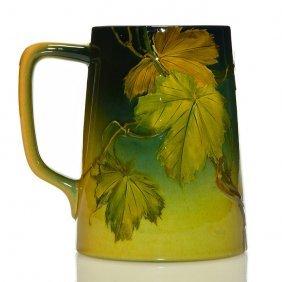 "Rookwood Standard Glaze Stein, Grapes, 5 1/2"""