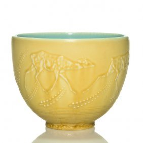 """Rookwood Production Vase With Deer, 6052, 5"""""""