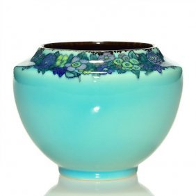 """Rookwood Porcelain Vase, Sax, 1922, 3 7/8"""""""