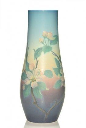 "Fine Rookwood 14"" Vellum Floral, Schmidt, 1925"