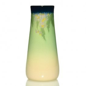"Rookwood Iris Vase, Floral, Coyne, 1910, 950d,8 3/8"""