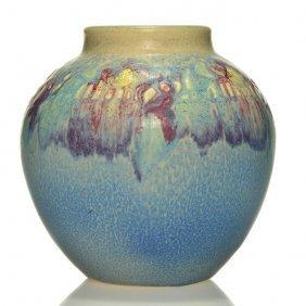 """Rookwood Carved Floral Vase, Todd, 1917, 912,5 1/2"""""""