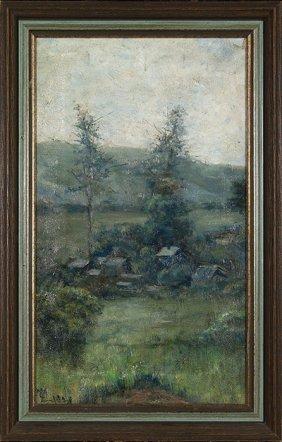 "Mary Louise Mclaughlin O/c, Landscape, 19"" X 11"""