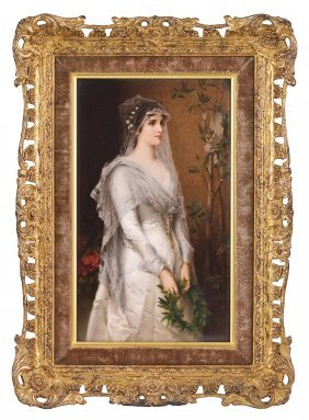A BERLIN PLAQUE OF A BRIDE, LATE 19TH CENTURY Finely
