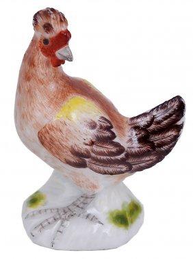 A Meissen Miniature Figure Of A Cockerel, Circa 1750