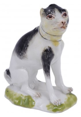 A Meissen Miniature Figure Of A Dog, Circa 1760 Seated