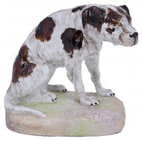A German Porcelain Figure Of A Setter, Perhaps