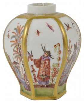 A Meissen Chinoiserie Tea Canister, Circa 1725
