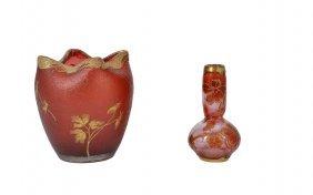 Two French Glass Vases, Both Legras Et Cie, Paris,