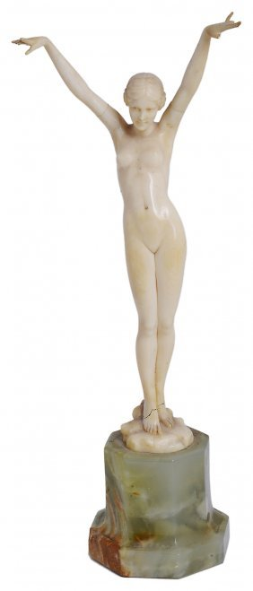 ˜ferdinand Preiss (1882-1943): Ecstasy A Carved Ivory