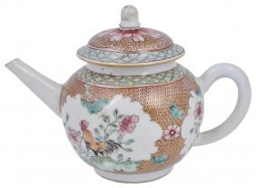 A Chinese Famille Rose Teapot And Cover, Yongzheng /
