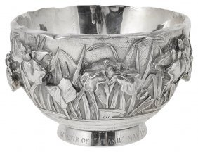 A Japanese Silver Bowl, Meiji Period (1868-1912)