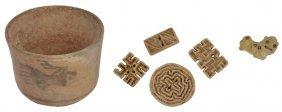 Six Indus Valley Antiquities, Mehrgarh And Quetta,