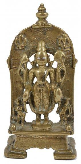 A Brass Shrine Depicting Vishnu, Western India, Circa