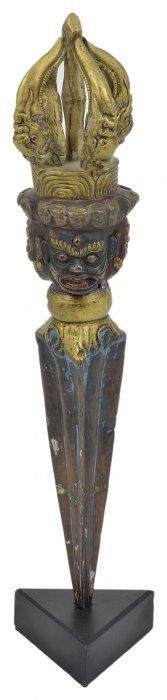 A Repousse Copper Ritual Dagger (phurbu), Probably