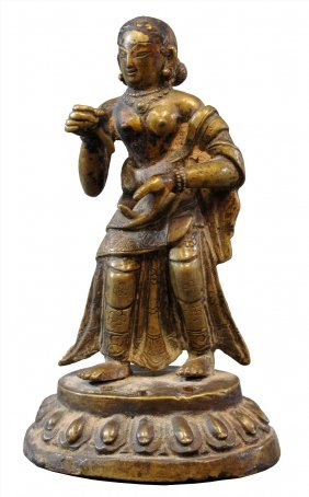 A Female Donor Figure Nepal, Circa 18th Century
