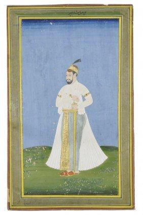 A Portrait Of A Deccani Sultan, Probably Ibrahim Adil