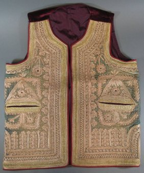 An Embroidered Waistcoat, Punjab, Second Half 19th