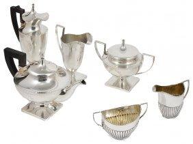 An American Four-piece Tea Set, Barbour Silver Co.,