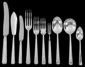 A Set Of George V Table Silver, Cooper Brothers & Sons,