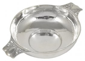 An Arts And Crafts Silver Quaich, George Lawrence