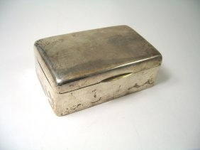 A George V Silver Cigar Box, Atkin Brothers, London,