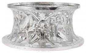 An Irish George Iii Silver Dish Ring, Maker's Mark Wh