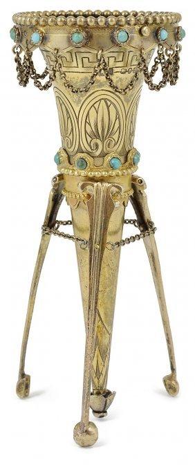A Victorian Silver-gilt Posy Holder, Alexander Macrae,