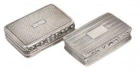 Two William Iv Silver Snuff Boxes, Both Birmingham