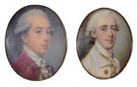 ˜a Portrait Miniature Of A Gentleman, By Jeremiah Meyer