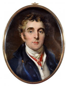 A Portrait Miniature Of Arthur Wellesley, 1st Duke Of