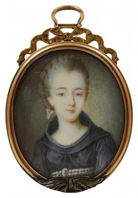 ˜a Portrait Miniature Of A Nun, French School, Circa