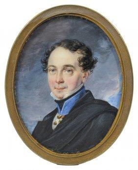 ˜a Portrait Miniature Of A Gentleman, Possibly Russian