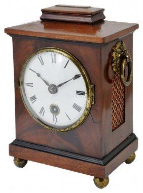 A Victorian Mahogany Mantel Clock, Mid 19th Century