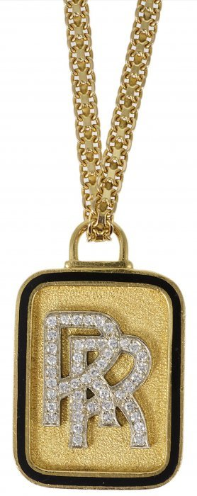 Rolls Royce' Pendant The Textured Plaque Depicting The