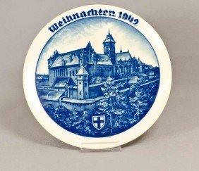 Rosenthal Weihnachtsteller, Marienburg, 1942, Walter
