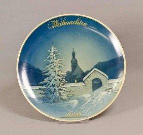 Rosenthal Weihnachtsteller, Christmette, 1959, Will