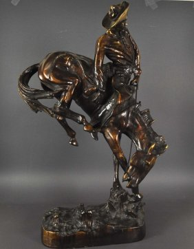 Equestrian Sculpture In A Very Lively Presentation, Bur