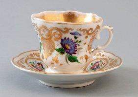 Biedermeiertasse, Krister Porzellanmanufaktur, Flora